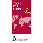 "Flyer: ""TERRE DES FEMMES – Fighting for the right of girls and women"" (Englisch)"